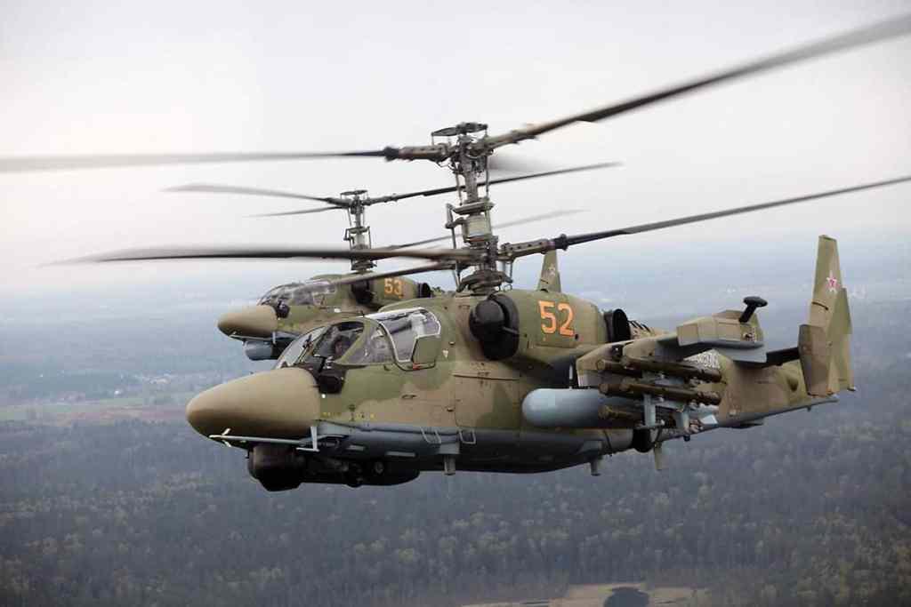вертолетное звено «Аллигаторов» Ка-52