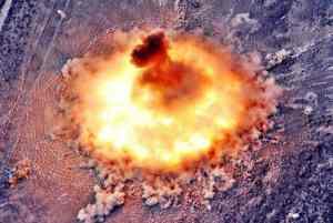 взрыв вакуумной или термобарической бомбе