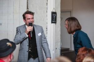Gresham Blake laughs with Miranda Birch with Vervate