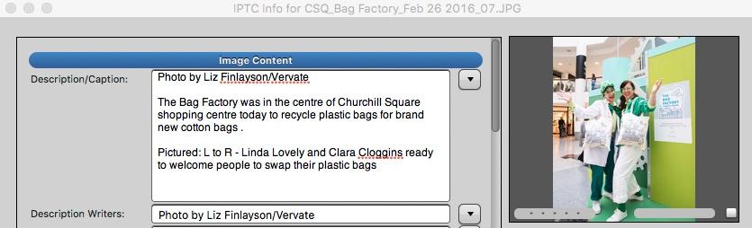 caption for bag factory