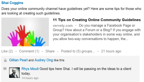 Feedback on Online Community Guidelines on LinkedIn