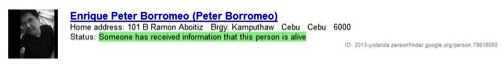 google personfinder peter borromeo