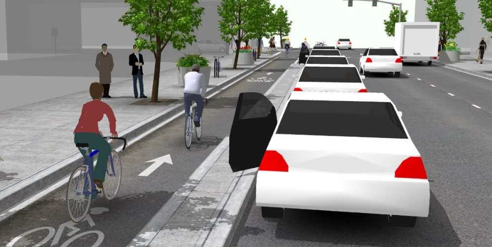 One Way Cycle Track