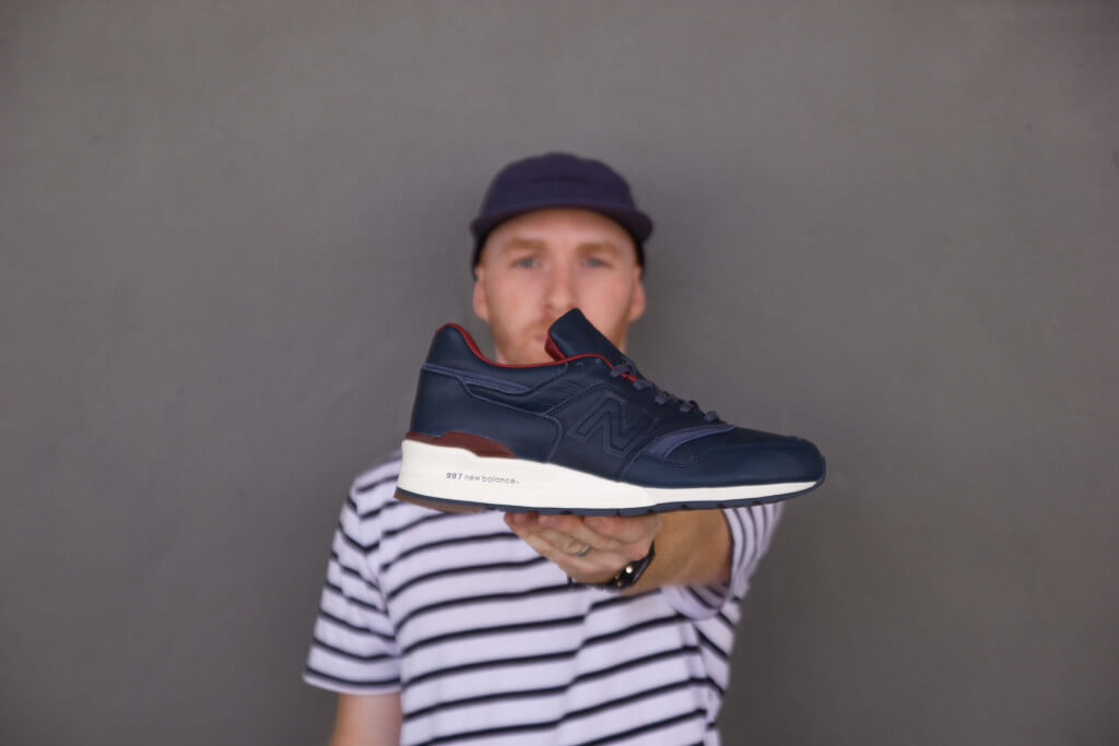 IMG_7793     Adrian from My Wife and Kicks with the New Balance 997 Bespoke Horween.