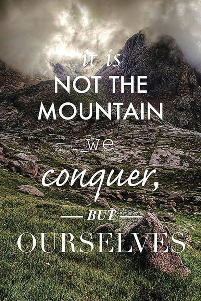 it is not the mountain