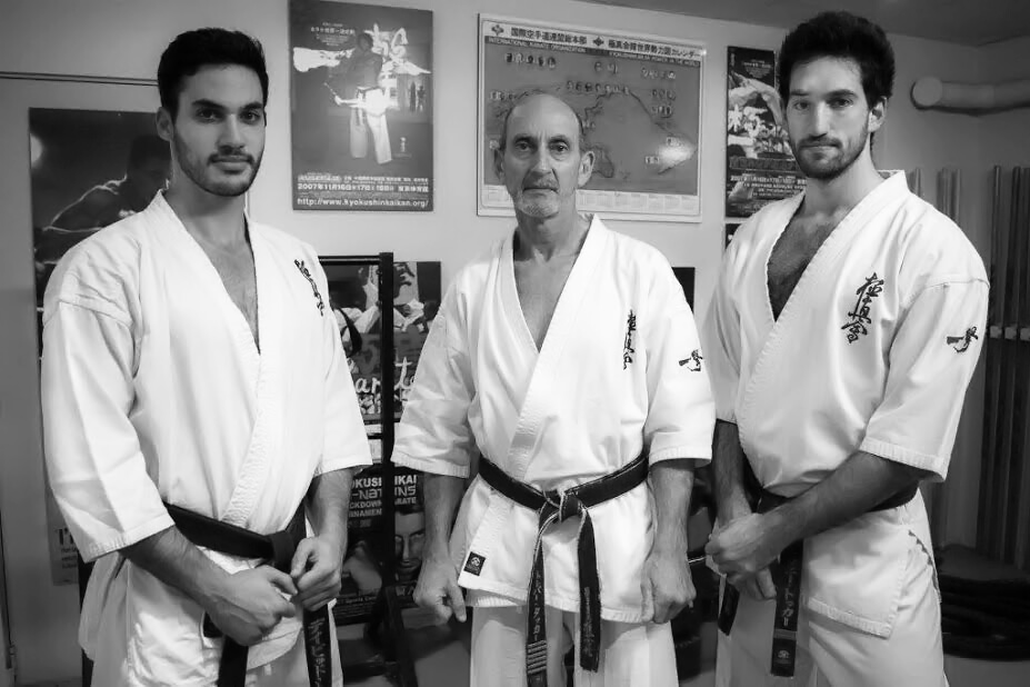 Trevor with sons David and Anthony, both Aussie champs.