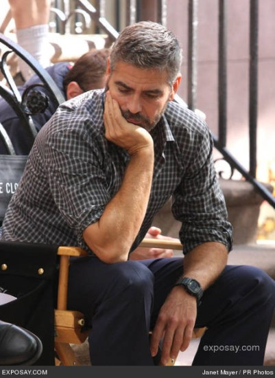 10/02/2007 - George Clooney - Burn After Reading - Movie Filming On Location - October 2, 2007 - Manhattan Streets - New York City, NY, USA - Keywords: - - - Photo Credit: Janet Mayer / PR Photos - Contact (1-866-551-7827)