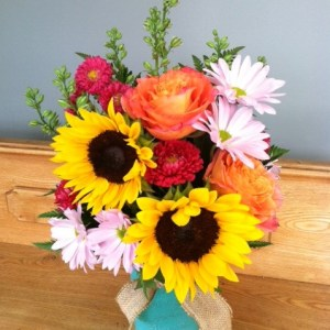 Mason Jar Garden Bouquet