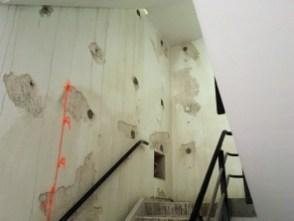 Sparingen trappenhuis.