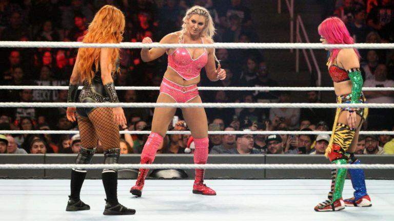 Asuka vs Becky Lynch vs Flair