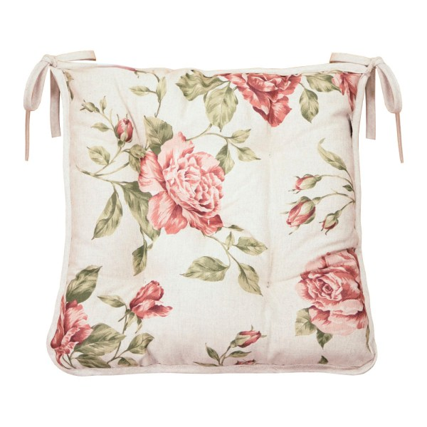 Chair cushion pink rose