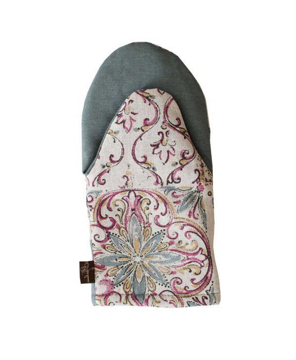 french provence country style cotton oven mitt gray by veryandvery
