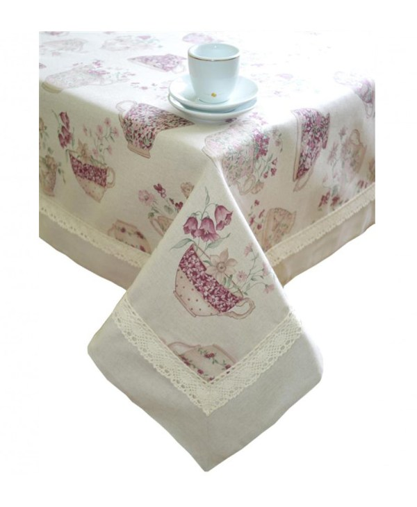 cotton tablecloth by veryandvery in cups pattern