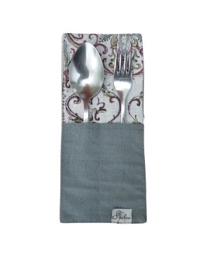 veryandvery table ware pouch grey mosaic cotton