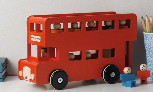 Wooden London Bus Toy
