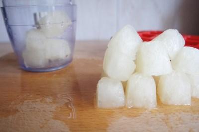 recette granité aux fruits - glaçons jus de citron et sirop de sucre
