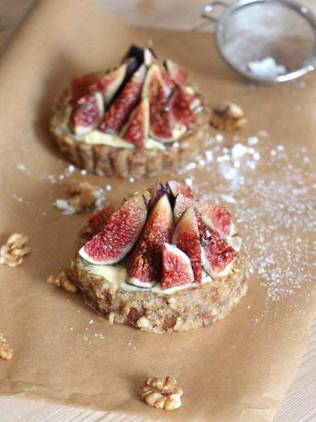tarte figue noix et figue raw fig tart