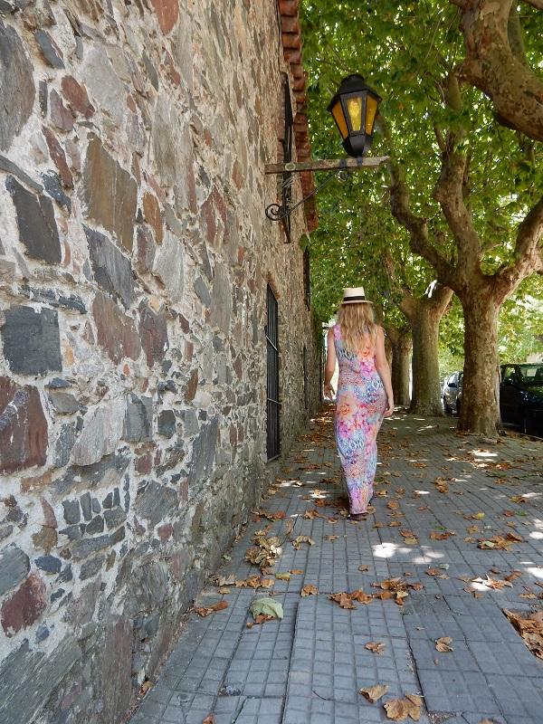 Walking through the street...