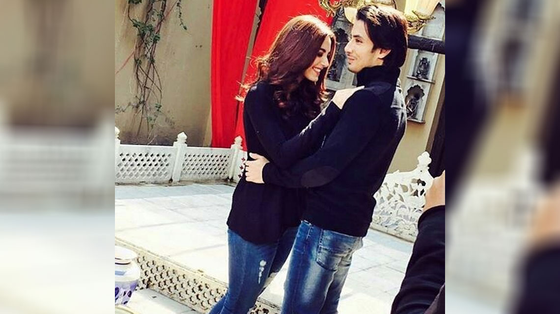 ali zafar and maya ali wrap lahore spell of 39 teefa in. Black Bedroom Furniture Sets. Home Design Ideas