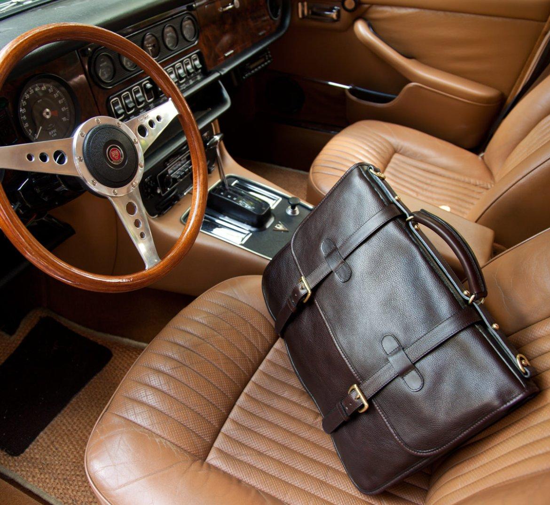 Lotuff English briefcase marron sac homme cuir