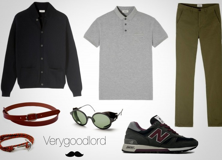 look homme casual detendu week-end campagne khaki