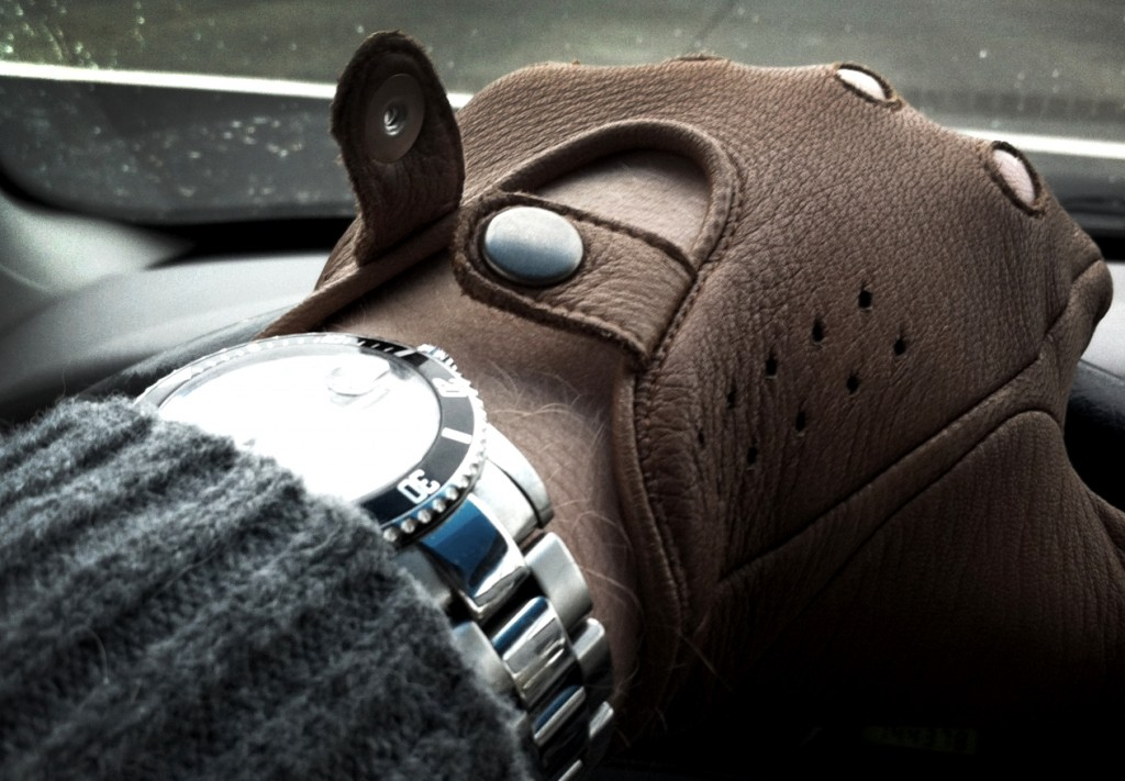 gant cuir marron montre rolex homme