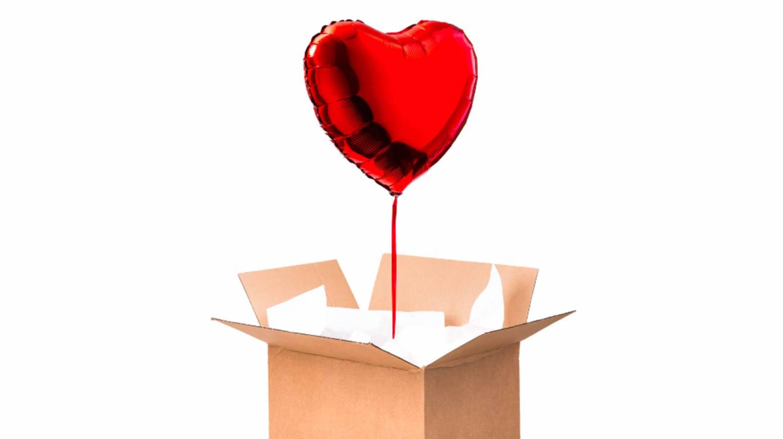 ballon rouge coeur helium cadeau