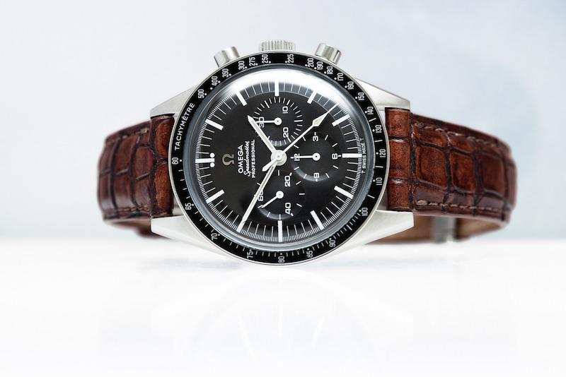 omega speedmaster montre homme bracelet cuir marron