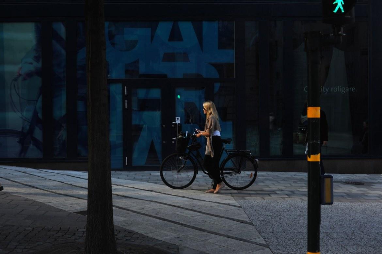 lancement VOLVO XC90 2014 Stockholm velo blonde