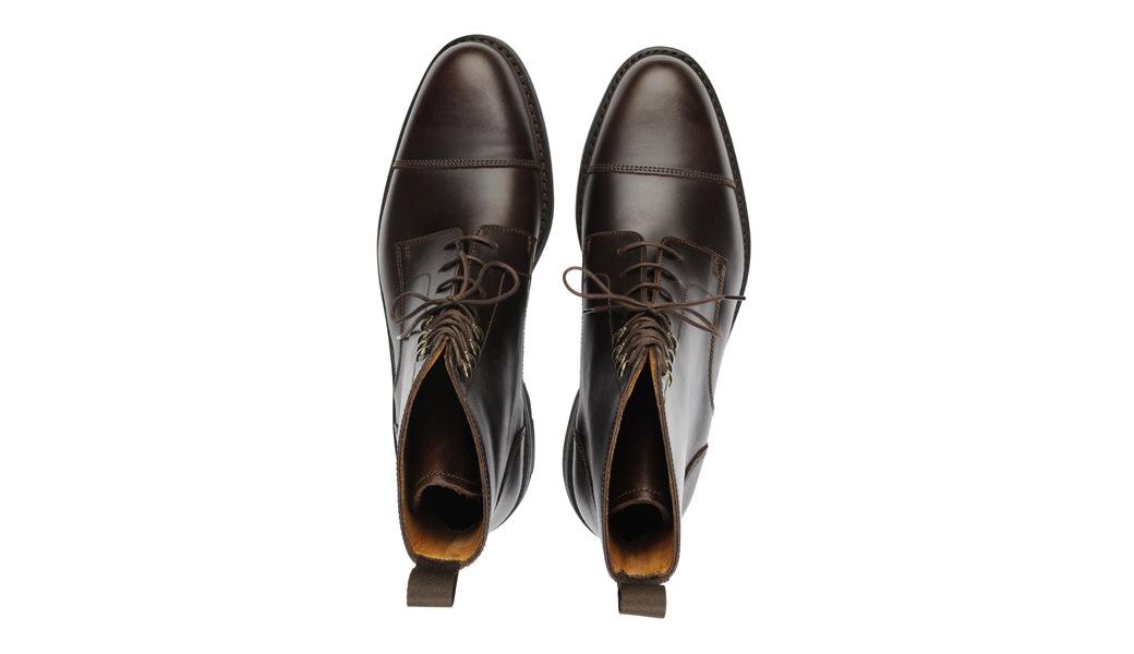 boots Enfield couleur marron Chocolat pas cher Dessus