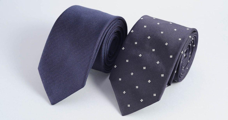 Cravate homme soie bleu made in france