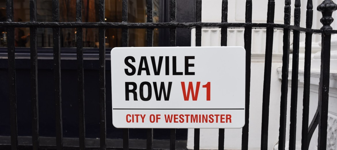 savile row w1 city of westminster sign