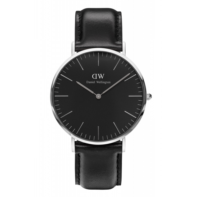 daniel wellington watch sheffield black silver bracelet