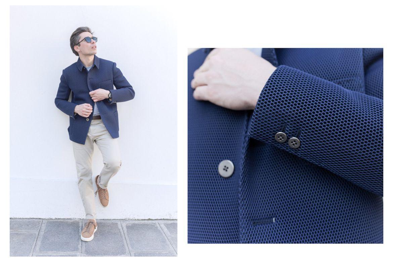 blazer eclectic airnet homme