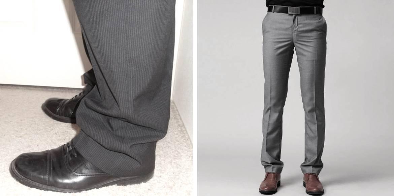 pantalon costume trop long homme