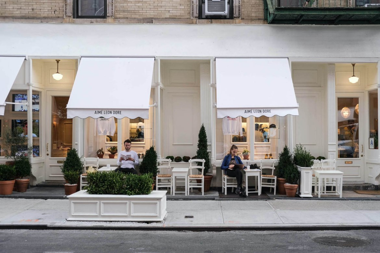 boutique aime leon dore new york devanture