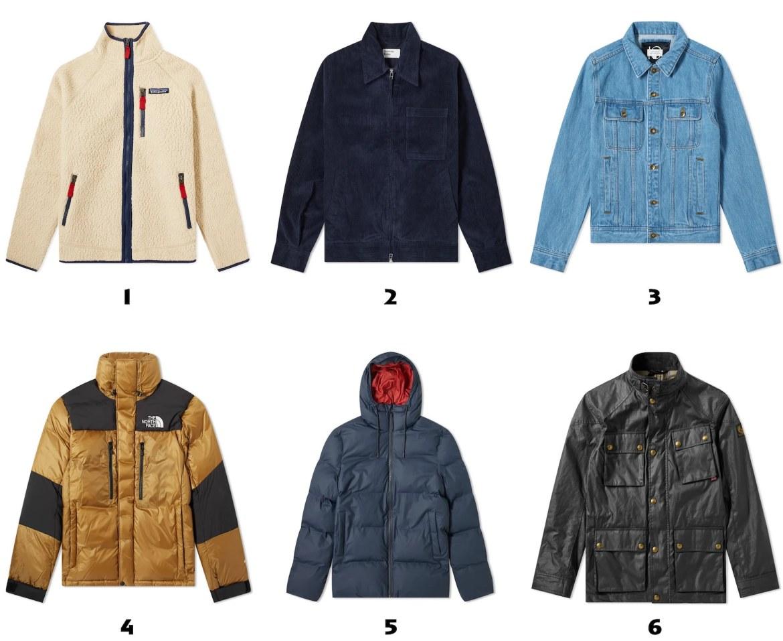 selection de blousons et manteaux pour homme