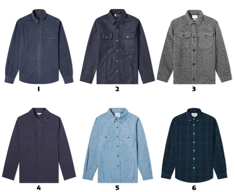 selection de chemises pour homme