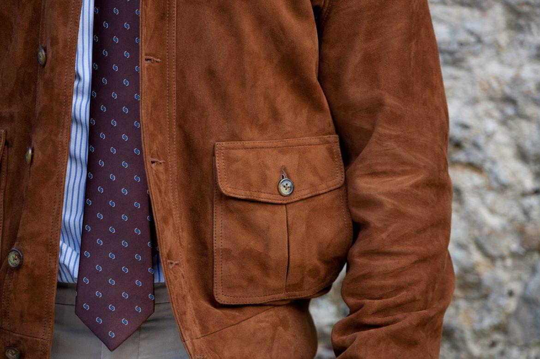 Focus détail blouson forlife poche à soufflet cravate anthony garçon