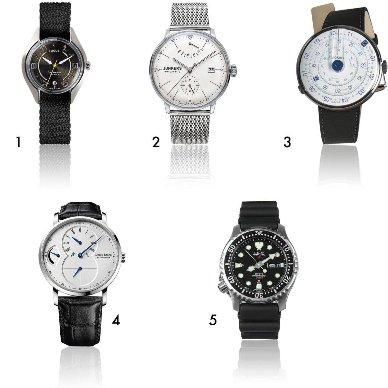 4 montre multi marques homme noel