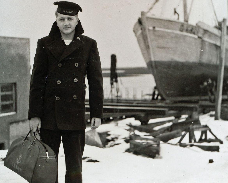 Caban vintage Navy