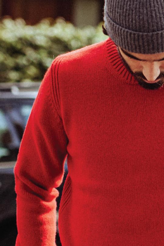 pull rouge laine