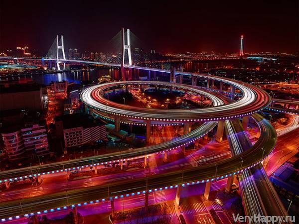 Ночные города (16 фото)   VeryHappy.ru