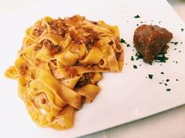 Pasta at Ristorante Dal Falco.