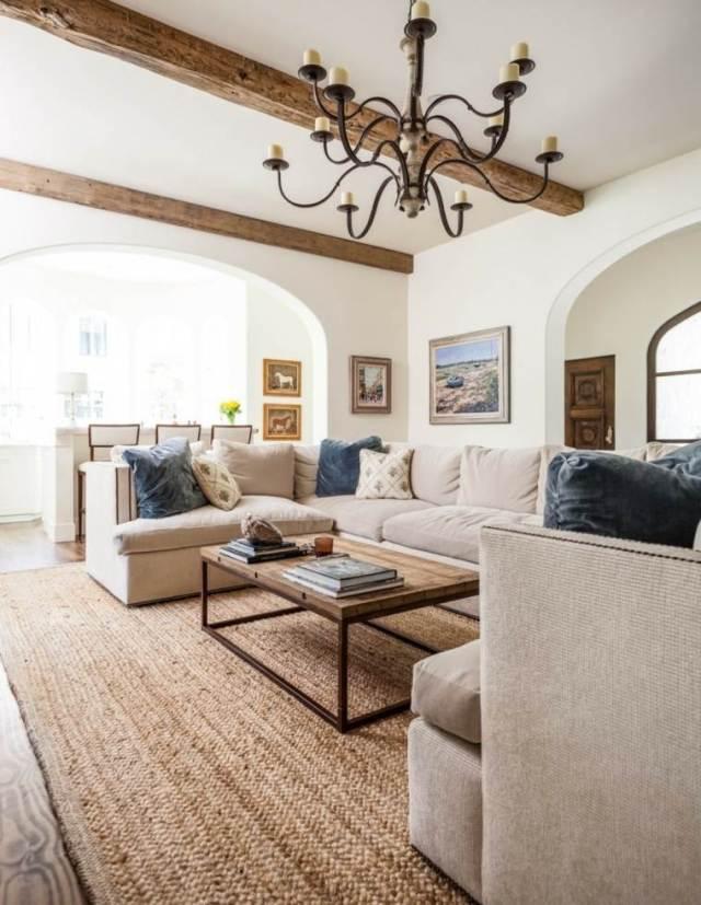 21 Wood Beam Ceiling Ideas   Wood Beams in Living Room ...
