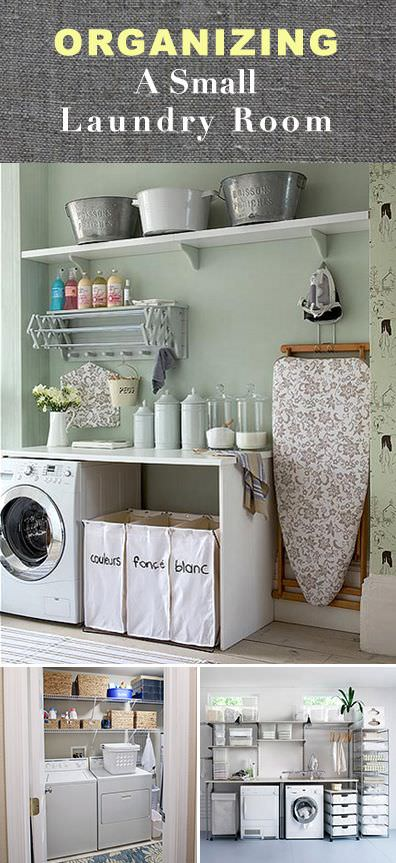 Organizing a Small Laundry Room • VeryHom on Small Laundry Room Organization Ideas  id=90649