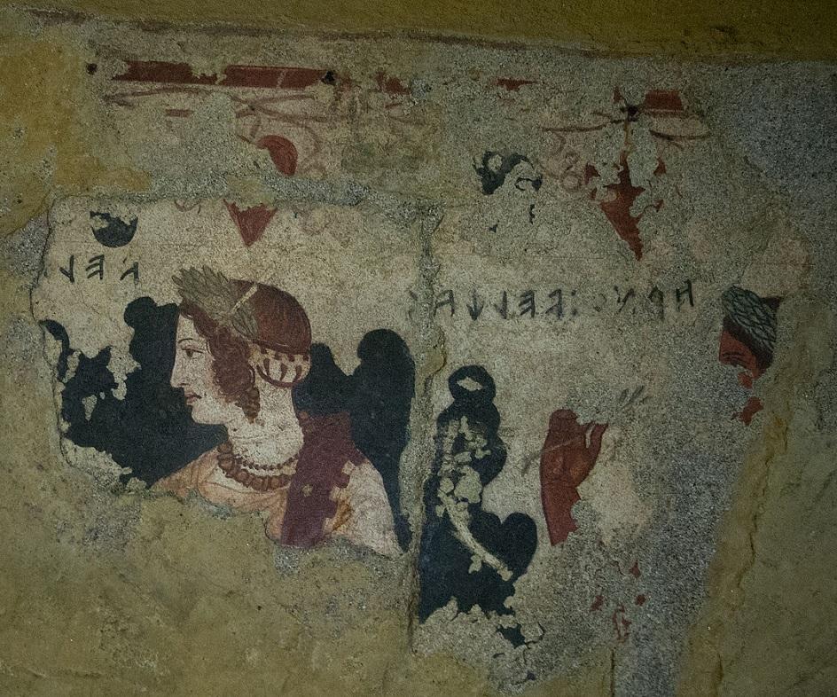 Τοιχογραφία. Etruscan τοιχογραφία. IV αιώνα π.Χ.
