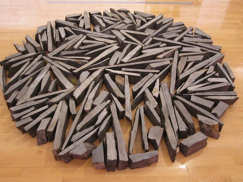 """Escultura. Postimonym. Richard longo. Escultura """"Sul Litoral"""", 1991"""