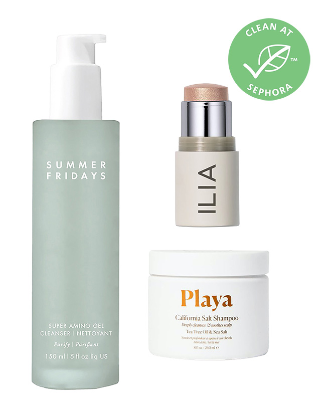 Clean beauty products on Sephora website.