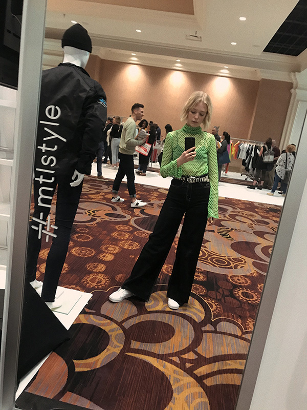 Joëlle Paquette at the MAGIC trade show in Las Vegas.